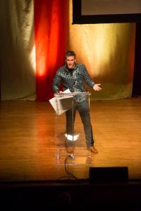 Photographer Jake Rosenberg accepts the award for Best New Visual Creator at the 35th National Magazine Awards gala.