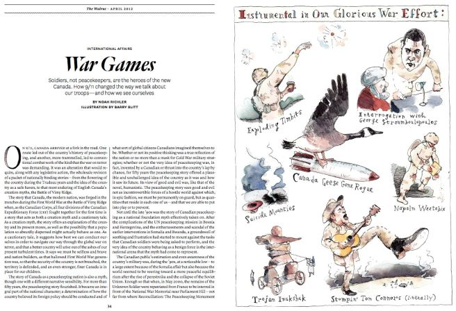 """War Games,"" by Barry Blitt, The Walrus"