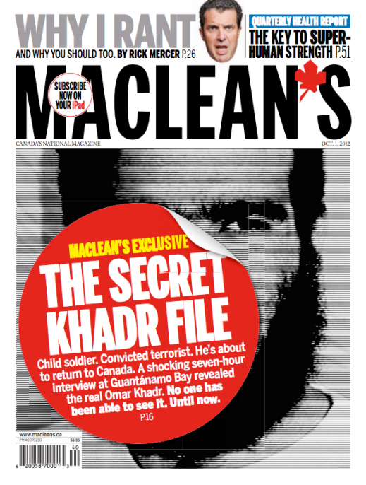 """The Secret Khadr File"" - Maclean's, Art Direction by Stephen Gregory"