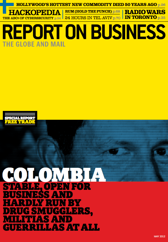 """Colombia"" - Report on Business, Art Direction by Domenic Macri"