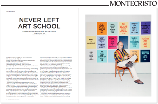 """Never Left Art School."" Photography by Mark Peckmezian for Montecristo."