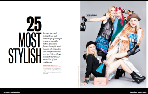"""25 Most Stylish."" Photography by Francisco Garcia for Toronto Life."