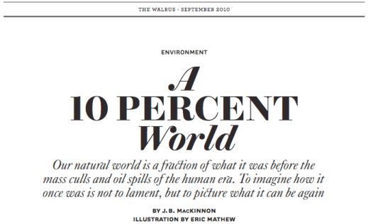 "Read ""A 10 Percent World"" (Gold, Essays, 2010)"