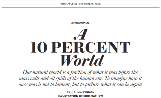 "Read ""A 10 Percent World"" (Gold, Essays, 2010)"