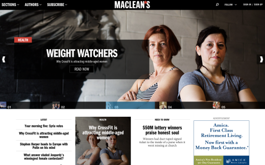 A Look at Canada's Best Magazine Websites