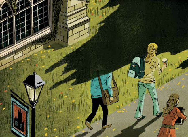 """""""Post-Secondary Distress"""" by Byron Eggenscwhiler (More). Gold Medal, Spot Illustration, 2011"""