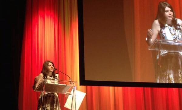 Jess Taylor on stage at the 37th annual National Magazine Awards, June 6, 2014.