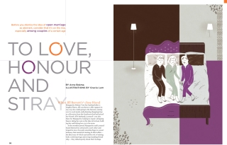To Love, Honour and Stay (More Magazine). Honourable Mention, Illustratrion, 2010 National Magazine Awards
