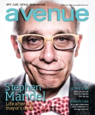 "Peter Nguyen, Art Director, Steven Sandor, Editor, Curtis Trent, Photographer: ""Stephen Mandel"" Avenue Edmonton"
