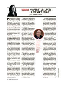 Chantal Hébert Politique L'actualité