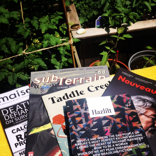 Reading National Magazine Award-winning literary magazines in the garden; an annual summer pastime.