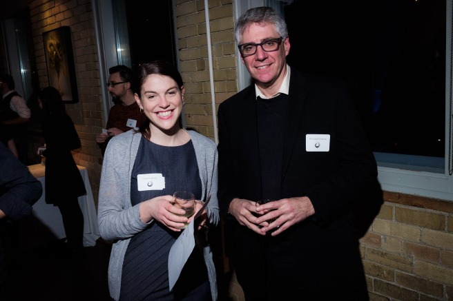 National Magazine Award winners Genna Buck and Richard Greene at Winners' Circle, a special networking event for NMA nominees and winners, on Nov 25