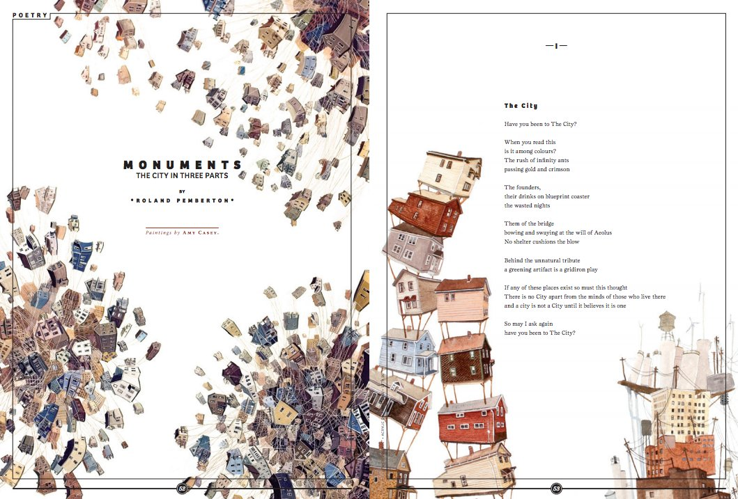 In 2011, You Won A Silver Medal In Art Direction For A Magazine Story For  U201cMonuments: The City In Three Partsu201du2014a Progression Of Towering  Illustrations By ...